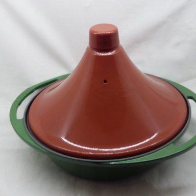 Litinový hrnec tajine 27cm - zelený