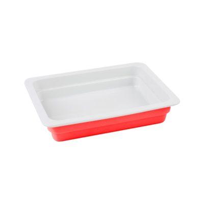 Litinový talíř 33x26 cm - červený