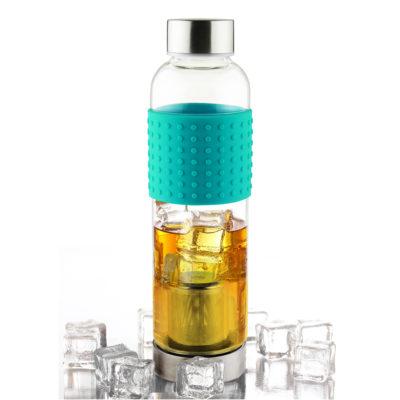 Skleněná láhev IT2GO 400ml modrá