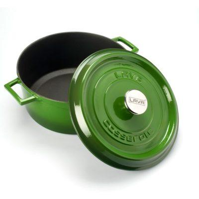 Litinový hrnec kulatý 16cm - zelený