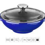 Litinový wok 16 cm - modrý