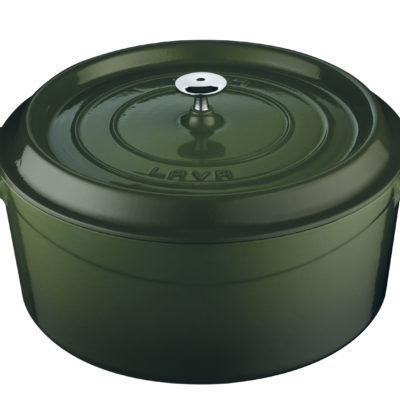 Litinový hrnec kulatý 28 cm - zelený